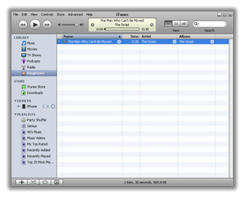 Double click the file on your desktop to add it to your ringtones library