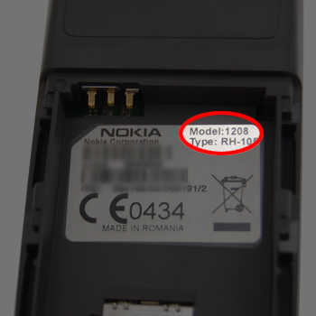 Find your Nokia model number on the IMEI label