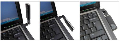 Mobile Broadband Modem in USB Swivel Adapter